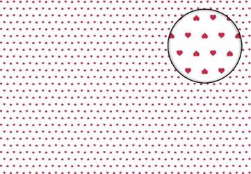 Czerwone serduszka - fototapeta