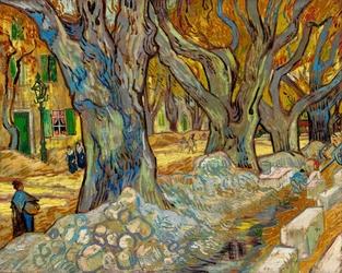 Vincent van gogh, the large plane trees - plakat wymiar do wyboru: 40x30 cm