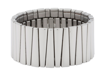 Bransoletka magnetyczna 1078 elastyczna ze stali szlachetnej i miedzią, polerowana