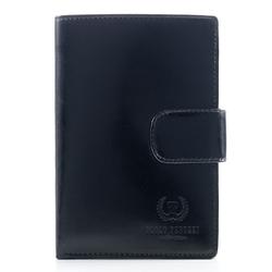 Czarny ekskluzywny męski portfel wielofunkcyjny