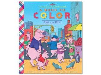 Rodzina świnek w mieście kolorowanka