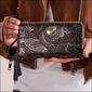 Skórzany portfel damski czarno - złoty forever young 76119 - czarny ze złotym