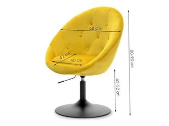 Fotel wypoczynkowy ester 4 welurowy żółty
