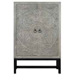 Drewniana komoda lirio w stylu rustykalnym  wys. 180 cm