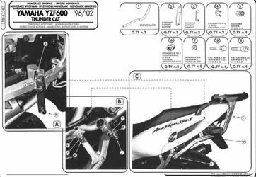 Kappa K3380 Stelaż Kufra Yamaha Yzf 600 Thunder 96-