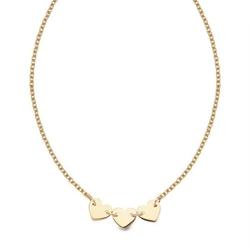 Staviori naszyjnik serca. żółte złoto 0,585.  długość regulowana 45cm lub 42cm.