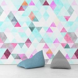 Triangle ice - tapeta na ścianę , rodzaj - tapeta flizelinowa laminowana
