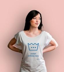 Królowa nocy t-shirt damski biały xxl