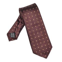 Elegancki brązowy krawat van thorn w miedziane kwiaty