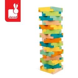 Drewniane klocki konstrukcyjne 60 elementów 4+, janod