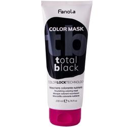 Fanola color mask - maska koloryzująca do włosów, różne kolory 200ml total black