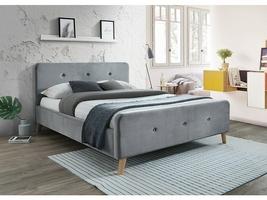 Łóżko tapicerowane ardito 160x200 cm szare