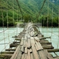 Fototapeta wiszący most