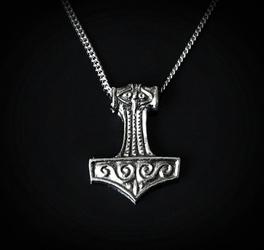 Duży młot thora - wisior z łańcuszkiem
