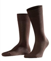 Bezuciskowe skarpety bawełniane falke sensitive malaga kolor brązowy rozmiar 43-46