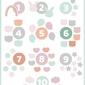 Słodkie liczby miętowe - plakat wymiar do wyboru: 60x80 cm