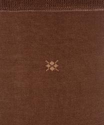 Eleganckie bawełniane gładkie skarpety burlington w kolorze brązowym rozmiar 40-46