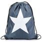 Plecak worek z gwiazdą niebieski sj28