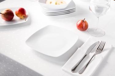 Talerz deserowy porcelana mariapaula moderna biała 18 cm kwadratowy