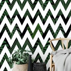 Tapeta na ścianę - tropical zizgag , rodzaj - próbka tapety 50x50cm