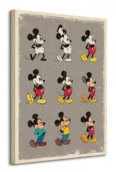Myszka miki mickey mouse evolution - obraz na płótnie