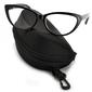 Kocie oczy okulary zerówki damskiecat eyesoprawki st101 na fleksach