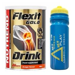 Nutrend flexit drink gold 400 g + iron horse bidon anabolic dream 650 ml