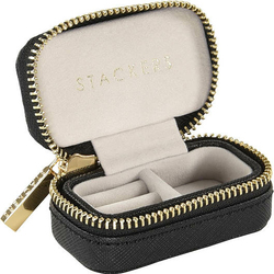 Pudełko podróżne na biżuterię Travel Mini Stackers velvet czarne