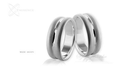 Obrączki srebrne - wzór ag-071