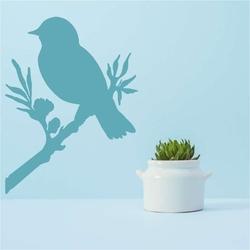 Szablon malarski ptak na gałęzi 2372