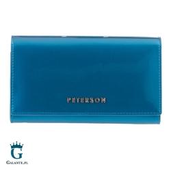 Turkusowy portfel damski peterson bc466 rfid