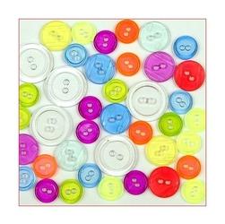 Kolorowe guziki 3 wielkości40 szt - neonowy - NEON