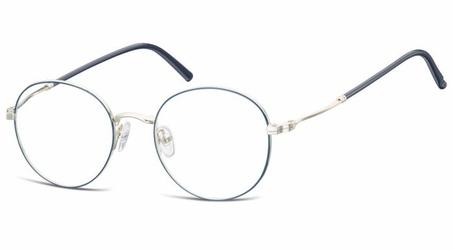 Lenonki okrągłe oprawki optyczne 927a niebiesko-srebrne