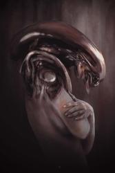 Alien - plakat premium wymiar do wyboru: 21x29,7 cm