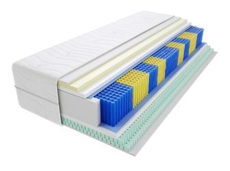Materac kieszeniowy apollo multipocket 210x220 cm średnio twardy 2x lateks visco memory