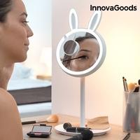 Dotykowe lustro led do makijażu mirrobbit 2w1