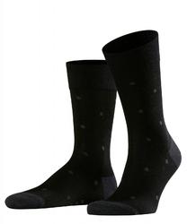 Stylowe czarne bawełniane skarpety falke dot w grochy rozmiar 43-46