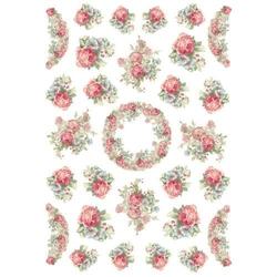 Papier ryżowy Stamperia A4 róże mini