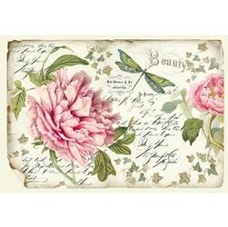 Papier ryżowy Stamperia 48x33 cm kwiaty