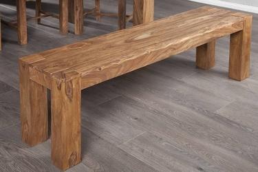 Drewniana ławka makassar 140 cm