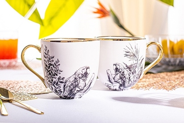 Kubki do kawy i herbaty porcelanowe altom design paradise tropical, zestaw 2 kubków