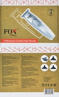 Fox volans profesjonalny bezprzewodowy trymer, srebrny