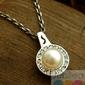 Adria - srebrny wisiorek perła i kryształy