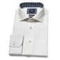 Lniana biała koszula profuomo originale 45