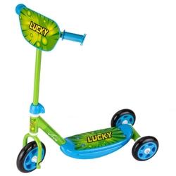 Hulajnoga vivo 3-kołowa 140-125mm zielono-niebieska