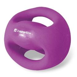 Piłka lekarska z uchwytami 3 kg grab - insportline - 3 kg
