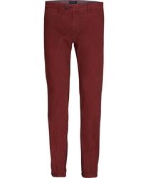 Męskie spodnie typu chino bordowe 54
