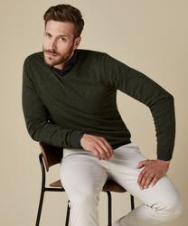Zielony pulower męski w serek s