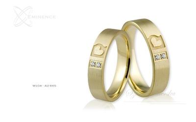 Obrączki ślubne - wzór au-665
