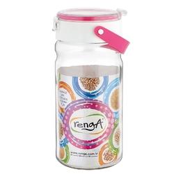 Słoik  pojemnik szklany do przechowywania żywności z plastikową pokrywą altom design 1,8 l różowy